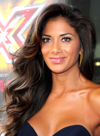 Nicole Scherzinger's Long, Wavy, Brunette, Romantic Hairstyle