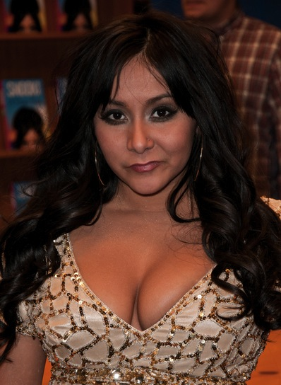 "Nicole ""Snooki"" Polizzi Long, Curly, Brunette Hairstyle"