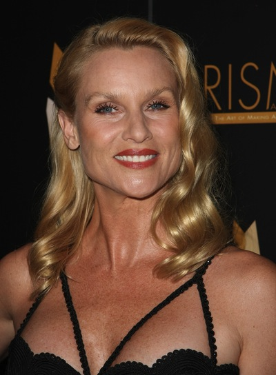 Nicollette Sheridan Medium, Wavy, Romantic, Sophisticated, Prom, Blonde Hairstyle