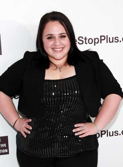 Nikki Blonsky Medium, Straight, Brunette Hairstyle