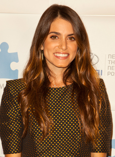 Nikki Reed's Long, Brunette, Wavy, Tousled Hairstyle