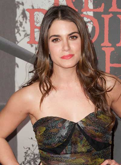 Nikki Reed Long, Curly, Tousled, Brunette Hairstyle