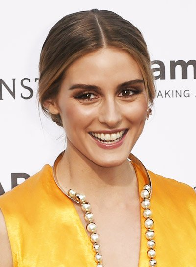 Olivia Palermo's Long, Brunette, Straight, Sophisticated, Ponytail Hairstyle