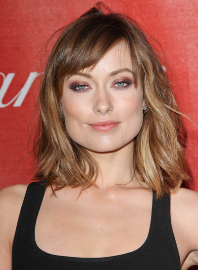 Olivia Wilde Short, Edgy, Chic, Brunette Bob with Bangs