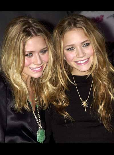 Olsen Twins Blonde, Layered Hairstyles
