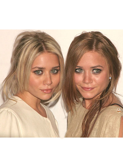 Olsen Twins Straight Half Updos