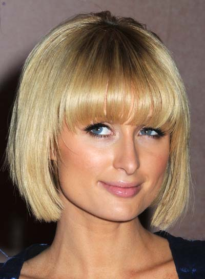 Paris Hilton Edgy, Blonde Bob