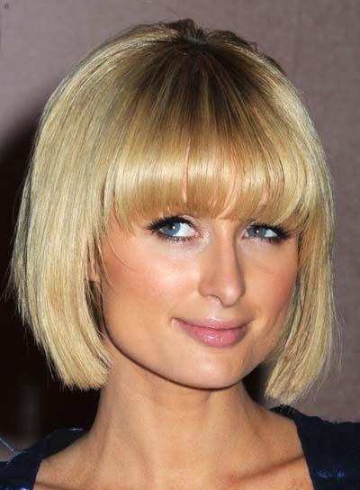 Paris Hilton Edgy, Blonde Bob