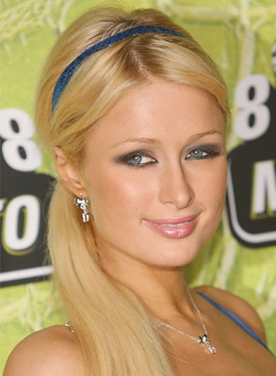 Paris Hilton Long, Straight, Chic, Blonde Ponytail