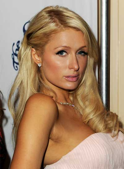 Paris Hilton Long, Romantic, Blonde Hairstyle with Braids and Twists