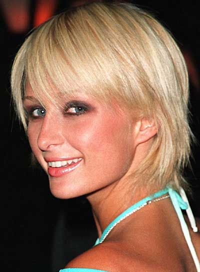 Paris Hilton Straight, Blonde, Shag Hairstyle