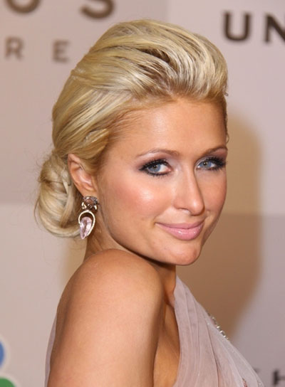 Paris Hilton Romantic, Blonde Updo