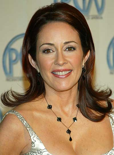 Patricia Heaton Straight, Long, Brunette Hairstyle