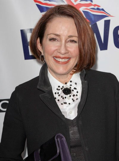 Patricia Heaton Short, Straight, Chic, Brunette Bob
