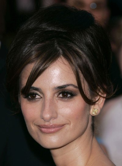 Penelope Cruz Sexy Updo with Bangs