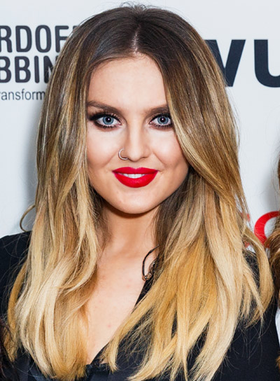 Perrie Edwards with a Long, Tousled, Blonde, Layered Hairstyle Pictures