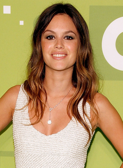 Rachel Bilson's Long, Layered, Wavy, Brunette Hairstyle with Highlights