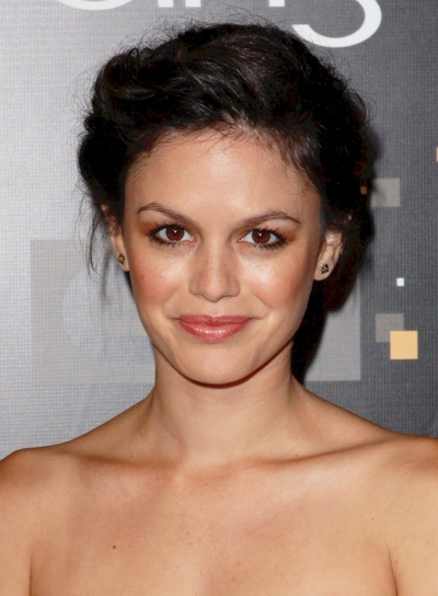 Rachel Bilson's Sophisticated, Brunette Updo with Braids and Twists
