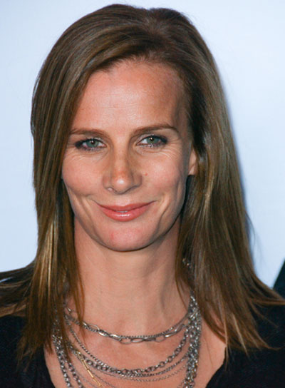 Rachel Griffiths Medium, Straight, Chic, Brunette Hairstyle