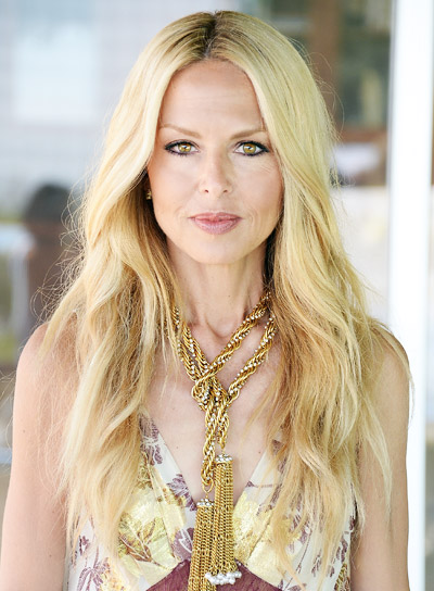 Rachel Zoe with a Long, Wavy, Blonde, Romantic Hairstyle Pictures