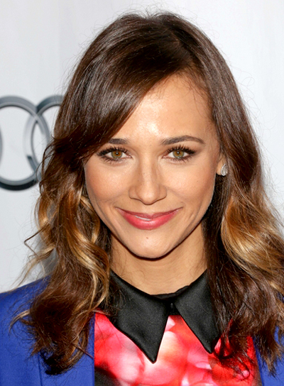 Rashida Jones' Long, Wavy, Brunette, Party Hairstyle