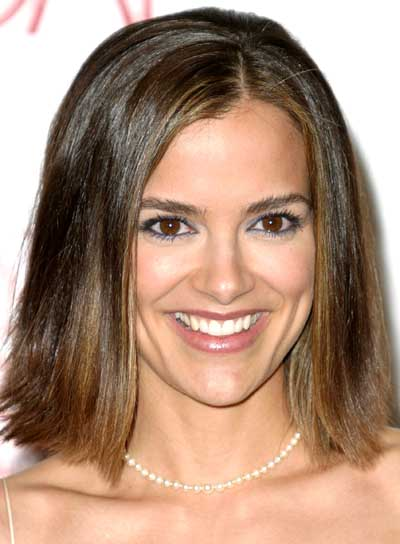 Rebecca Budig Straight, Medium-Length Bob