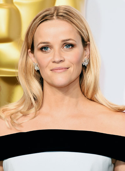 Reese Witherspoon Medium, Layered, Blonde, Sophisticated Hairstyle