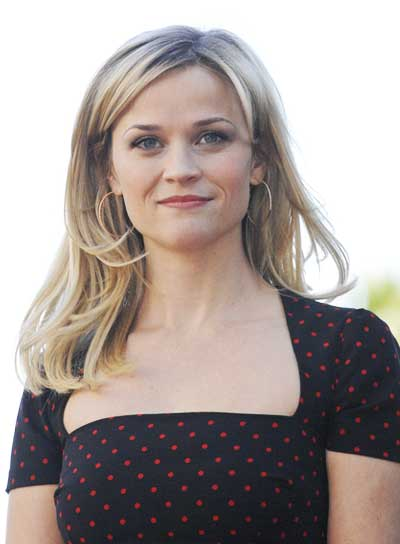 Reese Witherspoon Medium, Straight, Blonde Hairstyle