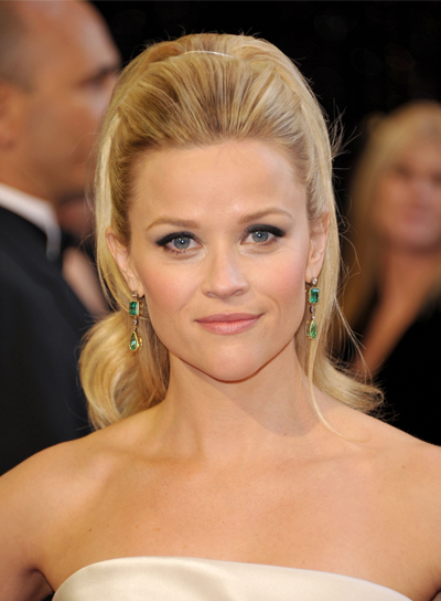 Reese Witherspoon Sophisticated, Blonde Ponytail