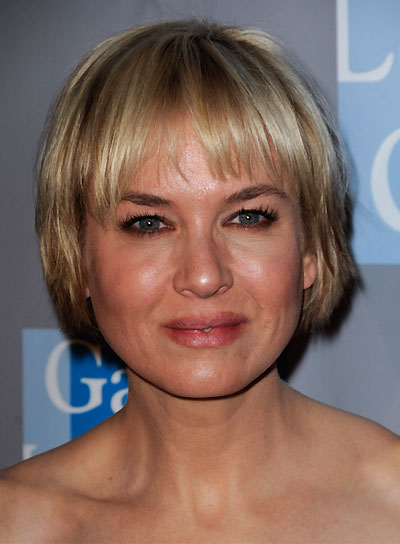 Renee Zellweger Short, Blonde Bob with Bangs