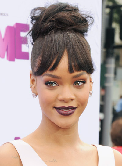 Long chic updos beauty riot rihanna with a long brunette chic updo hairstyle pictures pmusecretfo Gallery