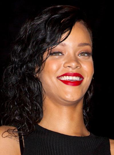 Rihanna's Medium, Black, Funky, Party, Hairstyle