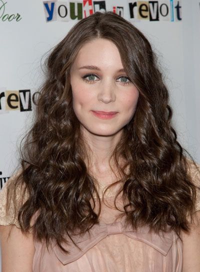 Rooney Mara Long, Wavy, Brunette Hairstyle