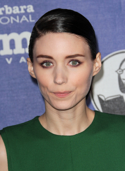 Rooney Mara Chic, Straight, Black, Sophisticated Updo