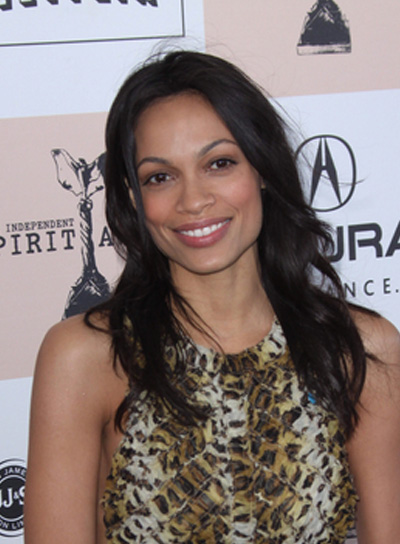 Rosario Dawson's Long, Tousled, Black Hairstyle