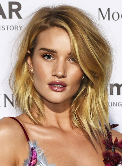 Rosie Huntington-Whiteley's Short, Blonde, Sexy, Tousled Hairstyle