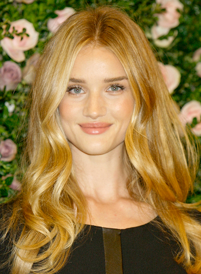 Rosie Huntington-Whiteley's Long, Blonde, Romantic, Wavy Hairstyle
