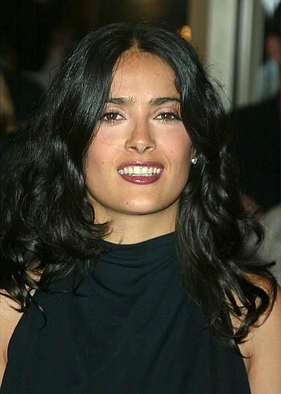 Salma Hayek Long, Wavy, Sexy Hairstyle