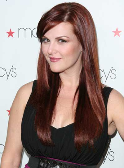 Sara Rue Long, Straight, Romantic, Red Hairstyle