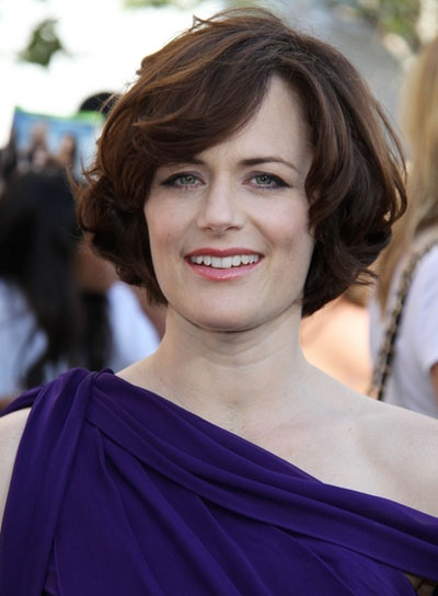 Sarah Clarke Short, Straight, Sophisticated, Brunette Bob