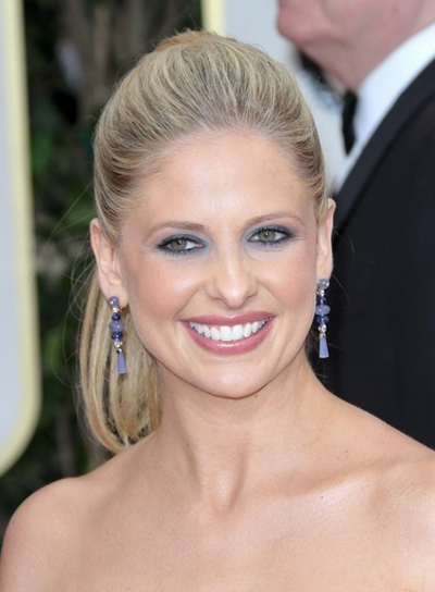 Sarah Michelle Gellar Straight, Chic, Formal, Blonde Ponytail