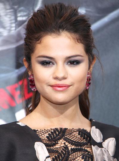 Selena Gomez's Long, Edgy, Tousled, Ponytail Hairstyle