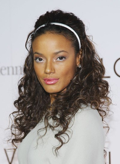 hair curly styles curly black hairstyles riot 1321 | selita ebanks long curly half updo sexy black