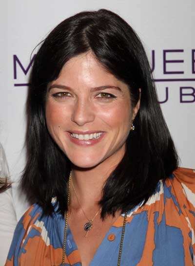 Selma Blair Medium, Straight, Sophisticated, Black Hairstyle