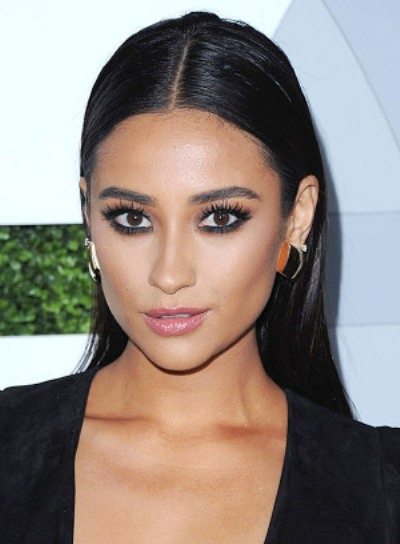 Shay Mitchell with a Long, Straight, Edgy Brunette Hairstyle Pictures