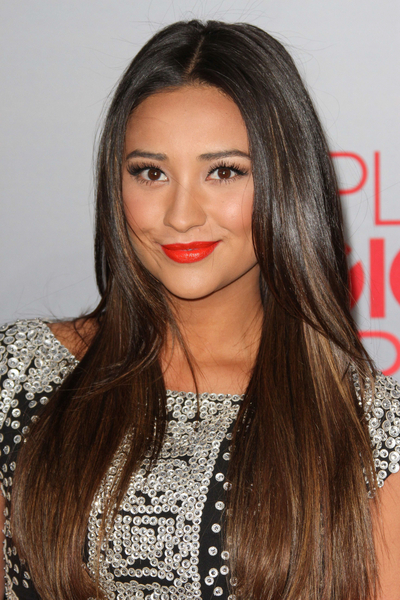 Shay Mitchell's Long, Straight, Chic, Brunette Hairstyle