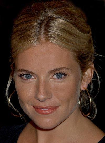 Sienna Miller Blonde, Chic Updo