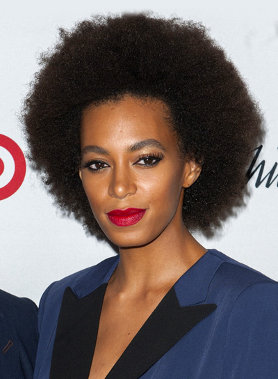 Solange Knowles's Funky, Brunette, Short, Curly Hairstyle