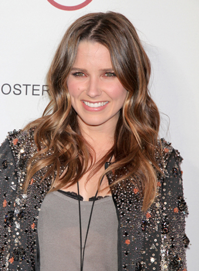 Sophia Bush Long, Wavy, Chic, Brunette Hairstyle with Highlights
