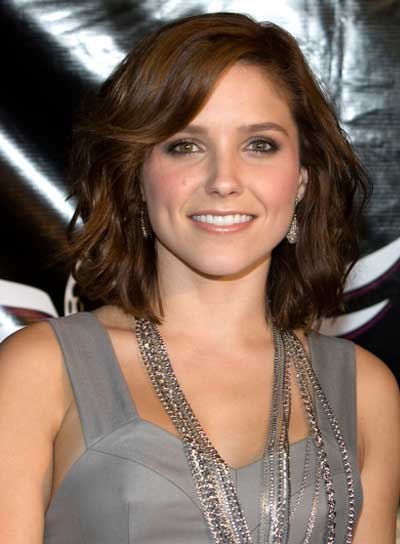 Sophia Bush Short, Tousled, Brunette Hairstyle